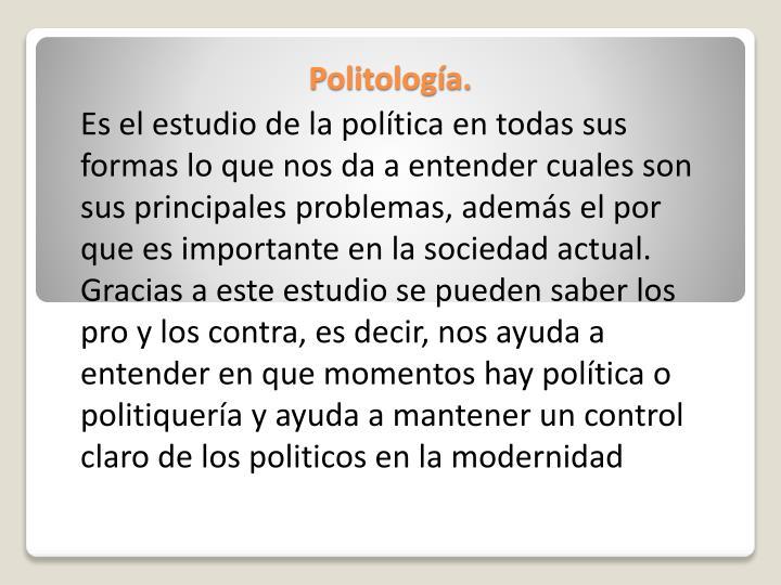 Politología.