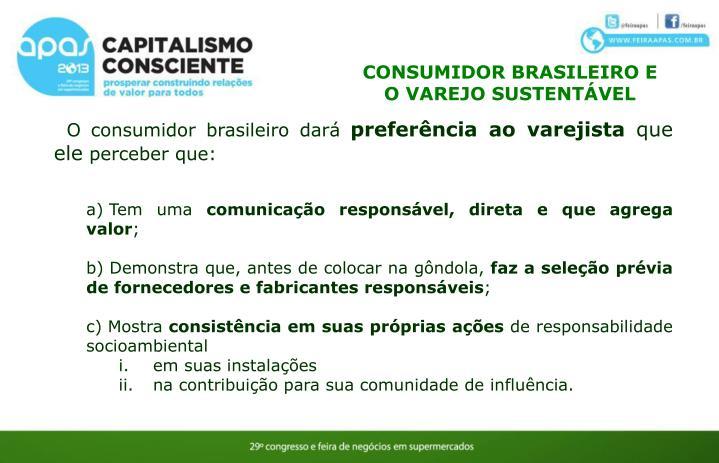 CONSUMIDOR BRASILEIRO