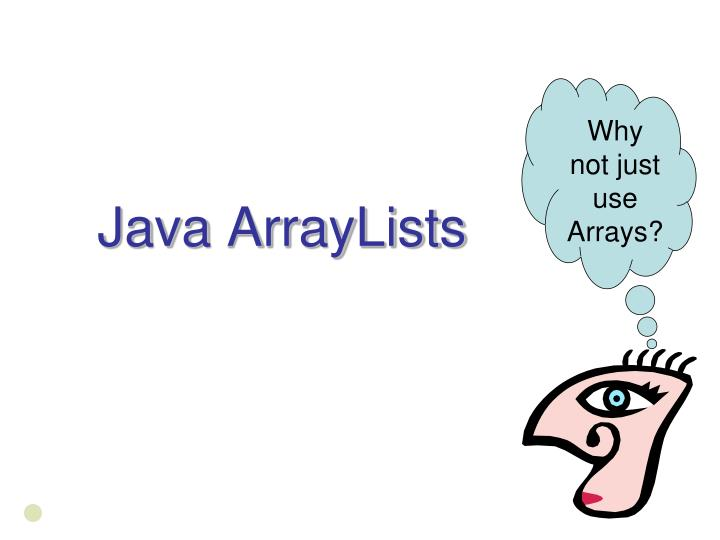 Java arraylists
