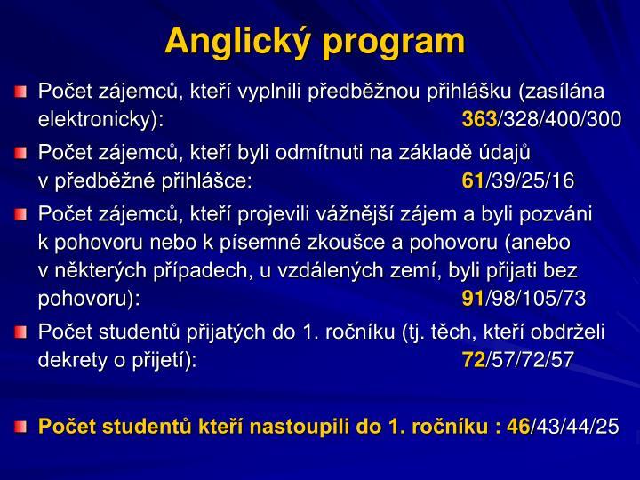 Anglický program