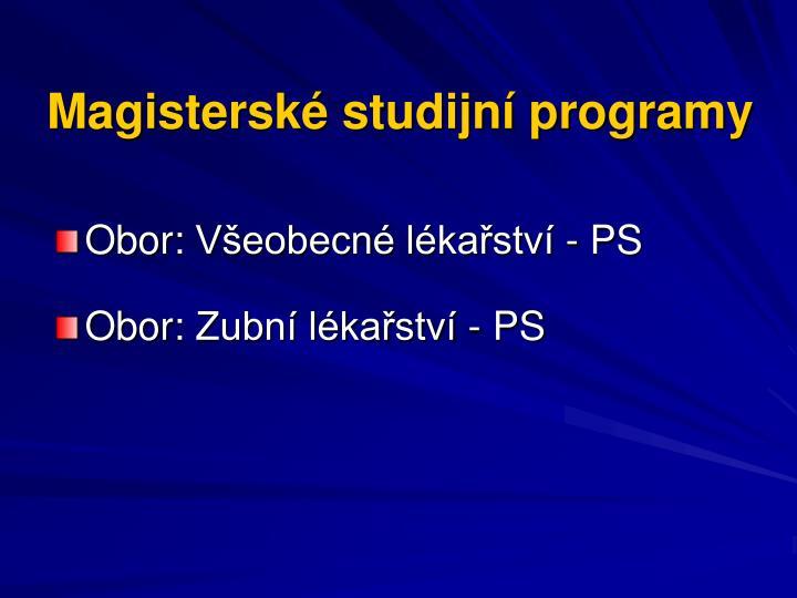 Magisterské studijní programy