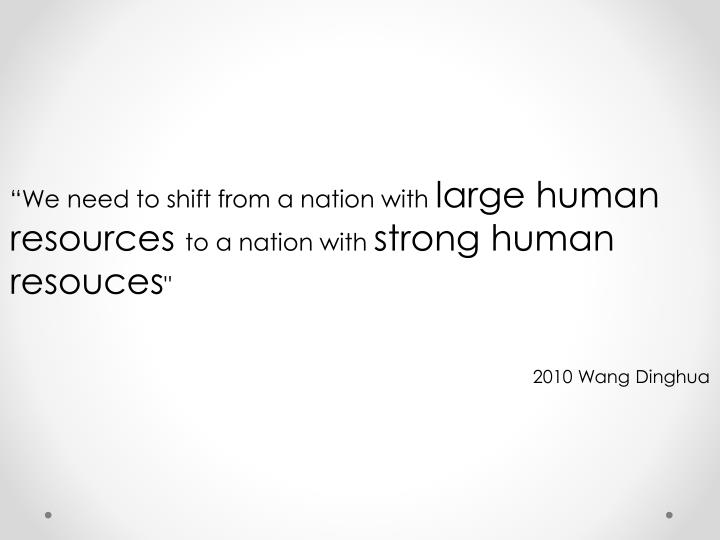 """""""We need to shift from a nation with"""
