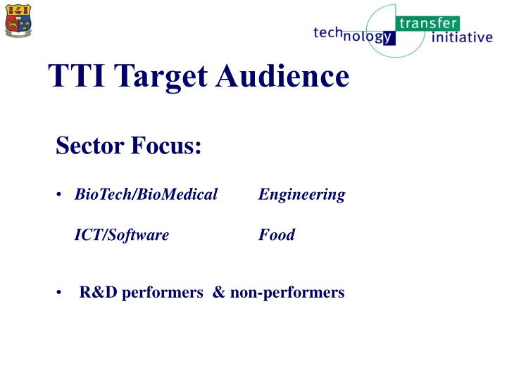 TTI Target Audience