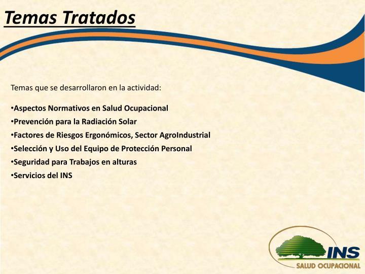 Temas Tratados