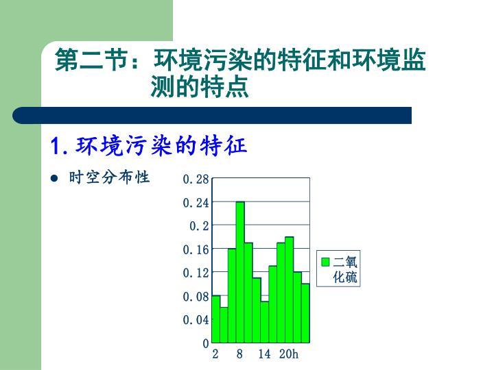 第二节:环境污染的特征和环境监