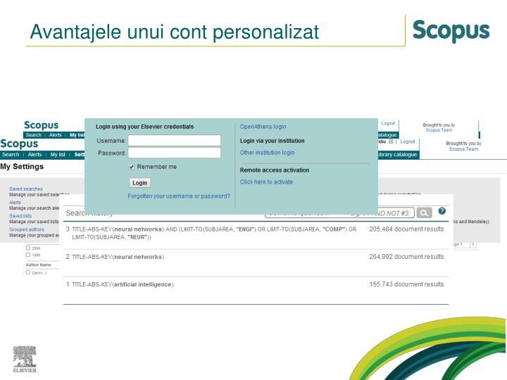 Avantajele unui cont personalizat