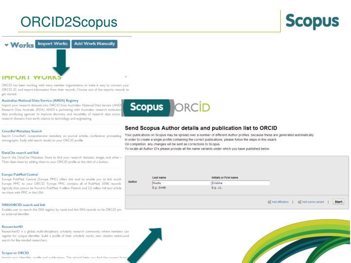 ORCID2Scopus