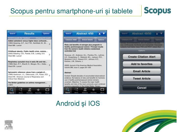 Scopus pentru smartphone-uri și tablete