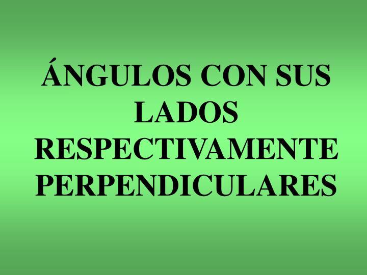 ÁNGULOS CON SUS LADOS RESPECTIVAMENTE PERPENDICULARES