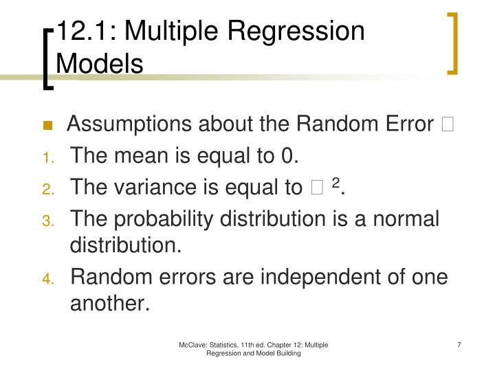 12.1: Multiple Regression Models