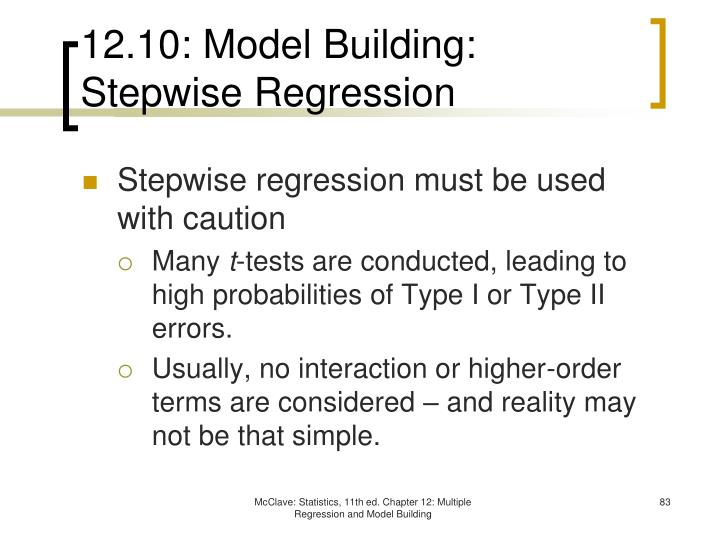 12.10: Model Building: Stepwise Regression
