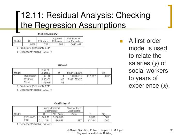 12.11: Residual Analysis: Checking the Regression Assumptions