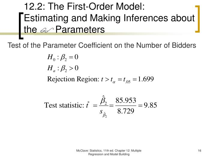 12.2: The First-Order Model: