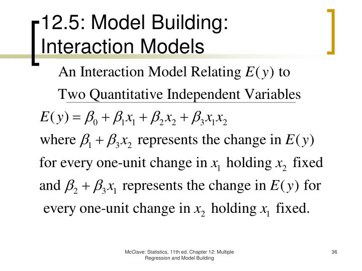 12.5: Model Building: Interaction Models