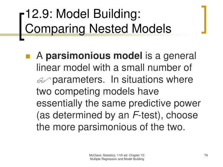 12.9: Model Building: Comparing Nested Models