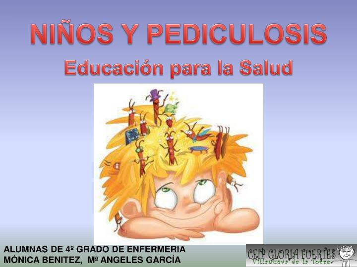 Ni os y pediculosis