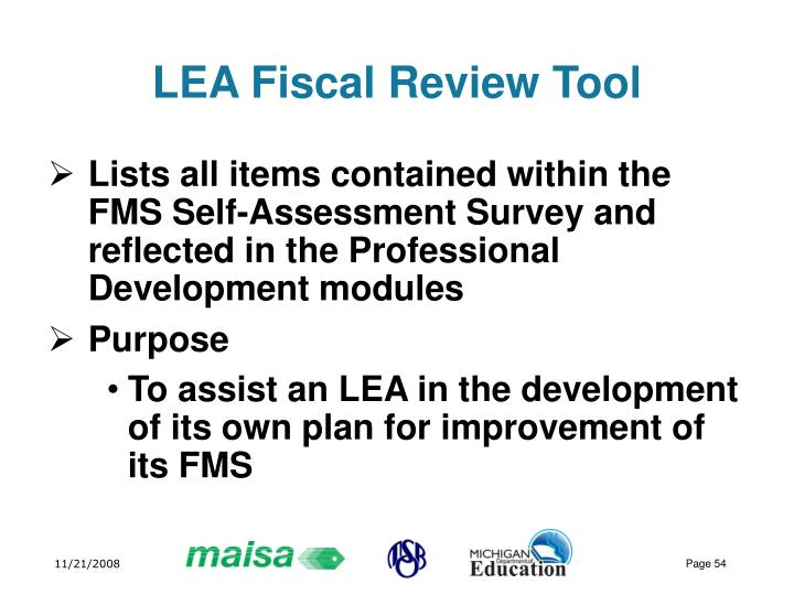 LEA Fiscal Review Tool