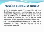 qu es el efecto tunel