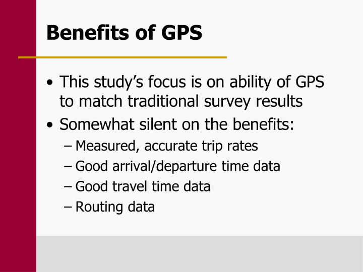Benefits of GPS