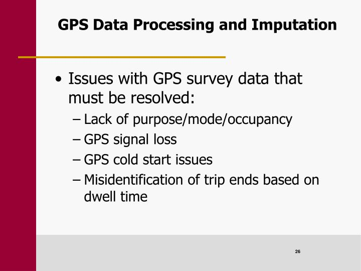 GPS Data Processing and Imputation