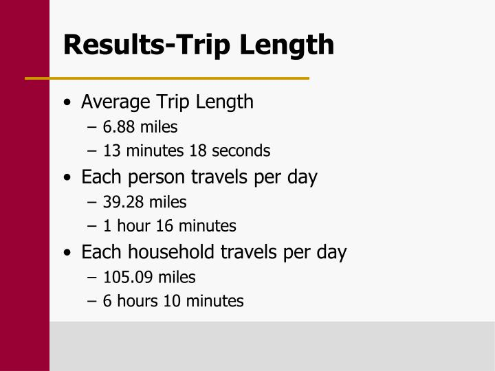 Results-Trip Length