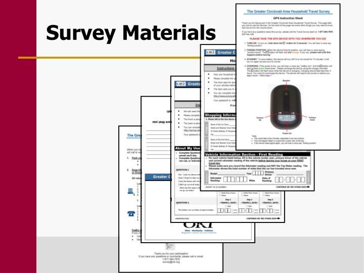 Survey Materials