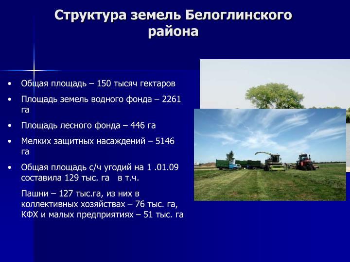 Структура земель Белоглинского района