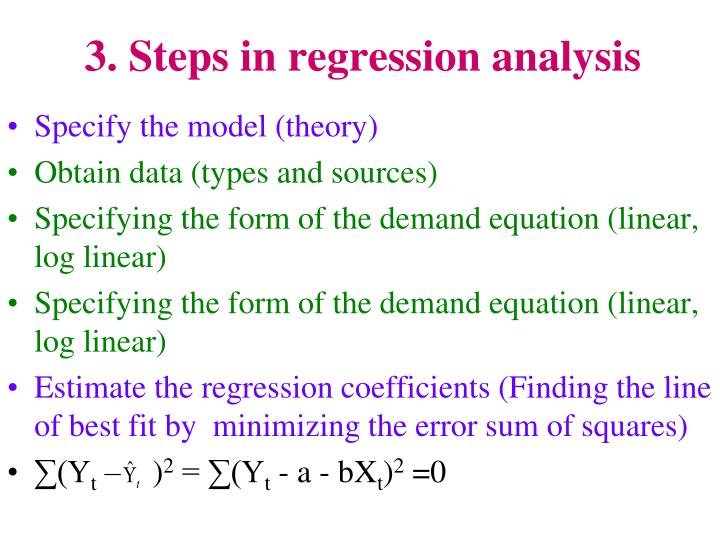 3. Steps in regression analysis
