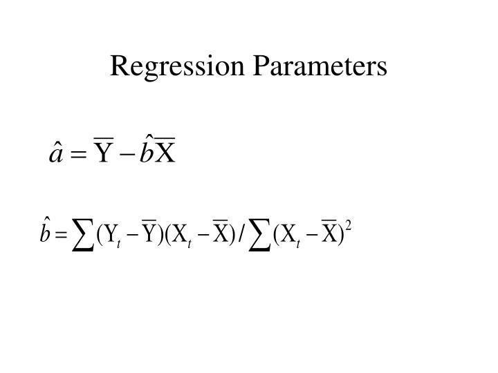 Regression Parameters