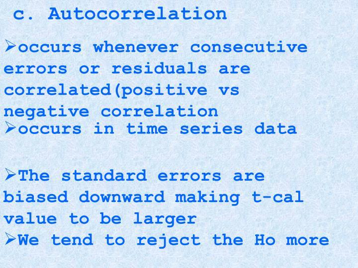 c. Autocorrelation