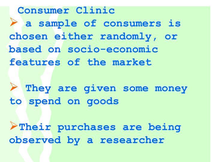 Consumer Clinic