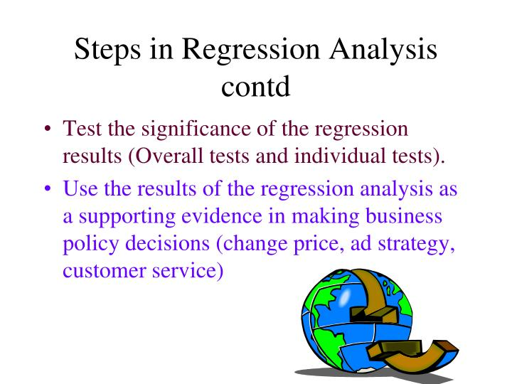 Steps in Regression Analysis contd