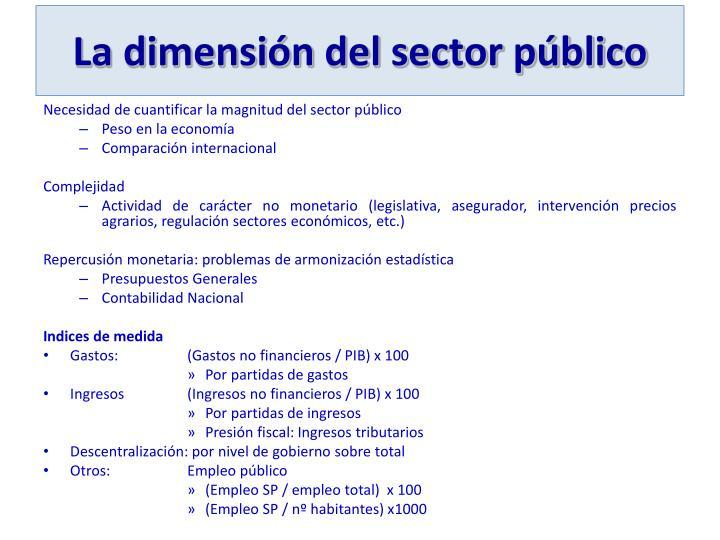 La dimensión del sector público