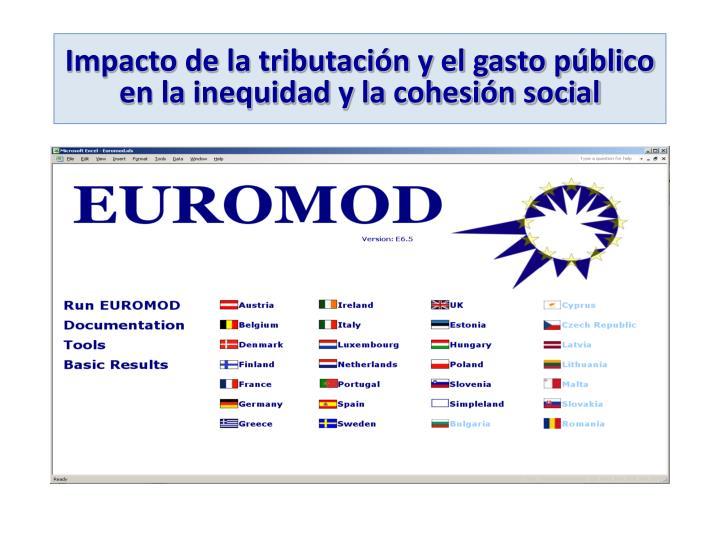 Impacto de la tributación y el gasto público en la inequidad y la cohesión social