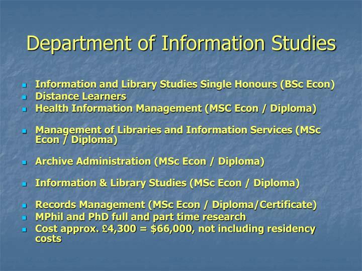 Department of Information Studies