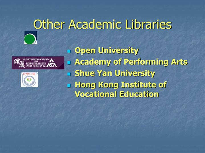Other Academic Libraries