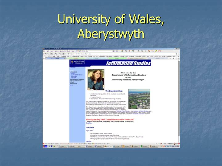 University of Wales,