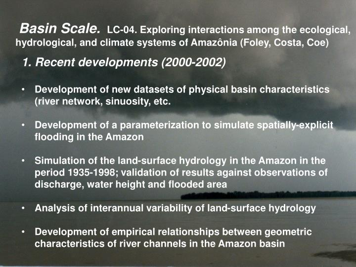 Basin Scale.