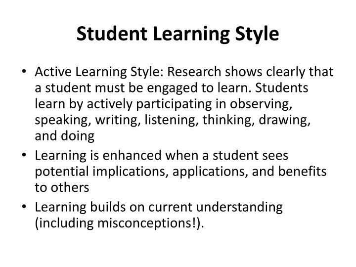 Student learning style