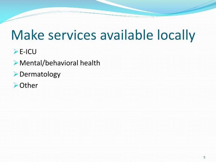 Make services available locally