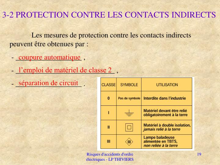 3-2 PROTECTION CONTRE LES CONTACTS INDIRECTS