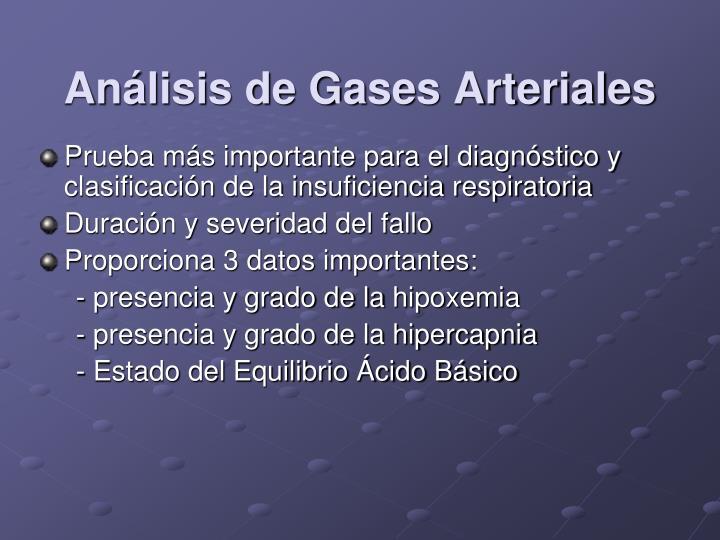 Análisis de Gases Arteriales