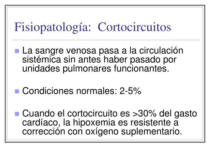Fisiopatología:  Cortocircuitos