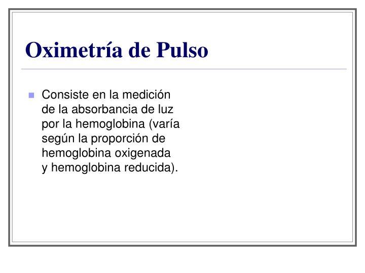 Oximetría de Pulso