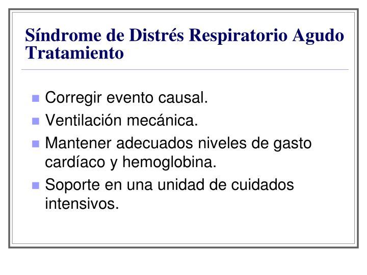 Síndrome de Distrés Respiratorio Agudo Tratamiento