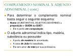 complemento nominal x adjunto adnominal cont