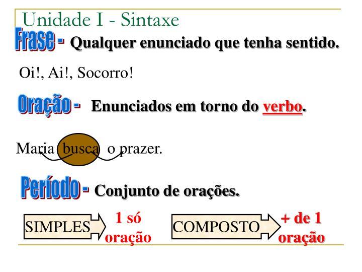 Unidade I - Sintaxe