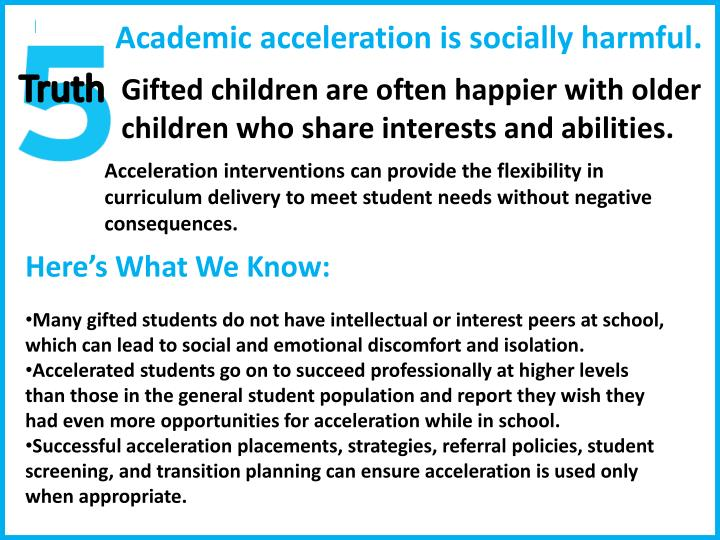Academic acceleration is socially harmful
