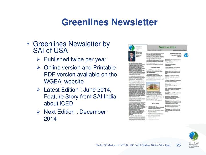 Greenlines Newsletter