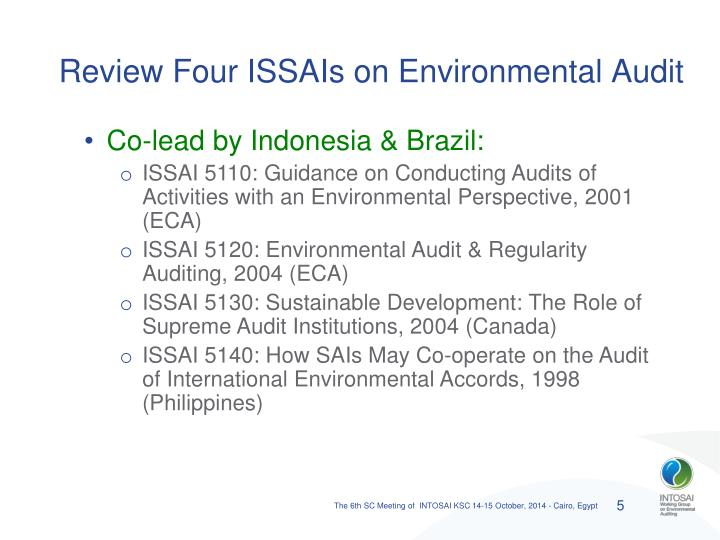 Review Four ISSAIs on Environmental Audit
